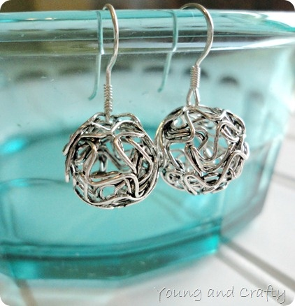 DIY Ball earrings