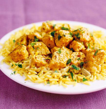 If you're looking for a Korma recipe with less saturated fat and fewer calories, this Quorn Meat Free Chicken Pieces dish is for you. http://www.quorn.co.uk/recipes/indulgent-quorn-korma/