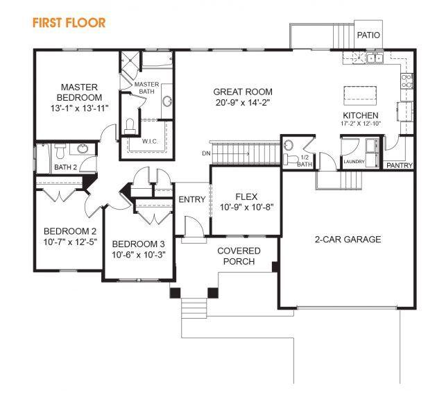 Hailey Rambler Floor Plan Utah Edge Homes Floor Plans Rambler House Plans Floor Plans Ranch