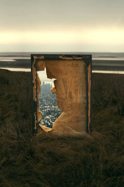 There are windows and doors to other worlds... you just have to look for them. Gate (10/52) - By: (Kevin Corrado)