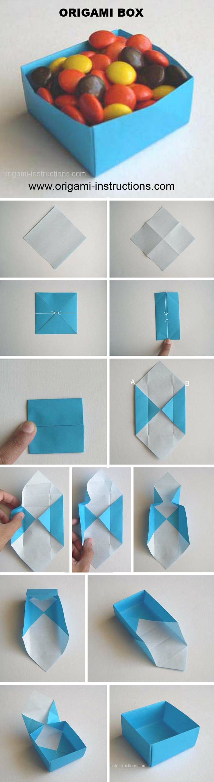 Origami Box  http://www.origami-instructions.com/origami-box-video.html