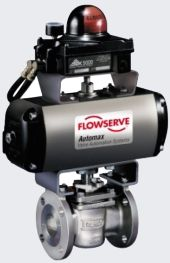 A valve fitted with an Automax actuator and limit switch feedback.