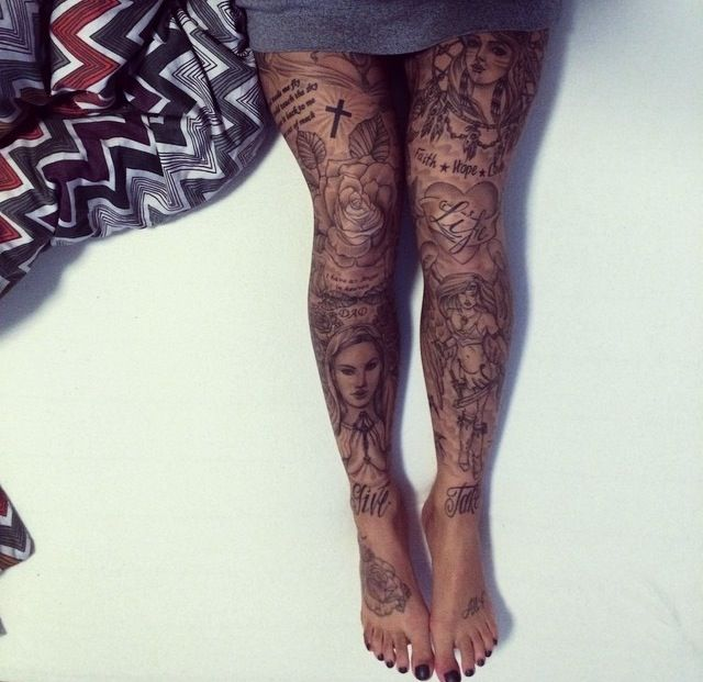 Tattoo on legs