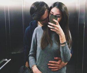 #cute #couple #love #kiss #selfie #boy #girl #long #hair