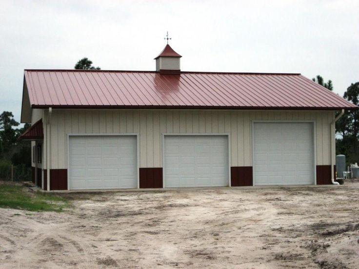 Custom Metal Building Backyard Barn With Wainscoting And