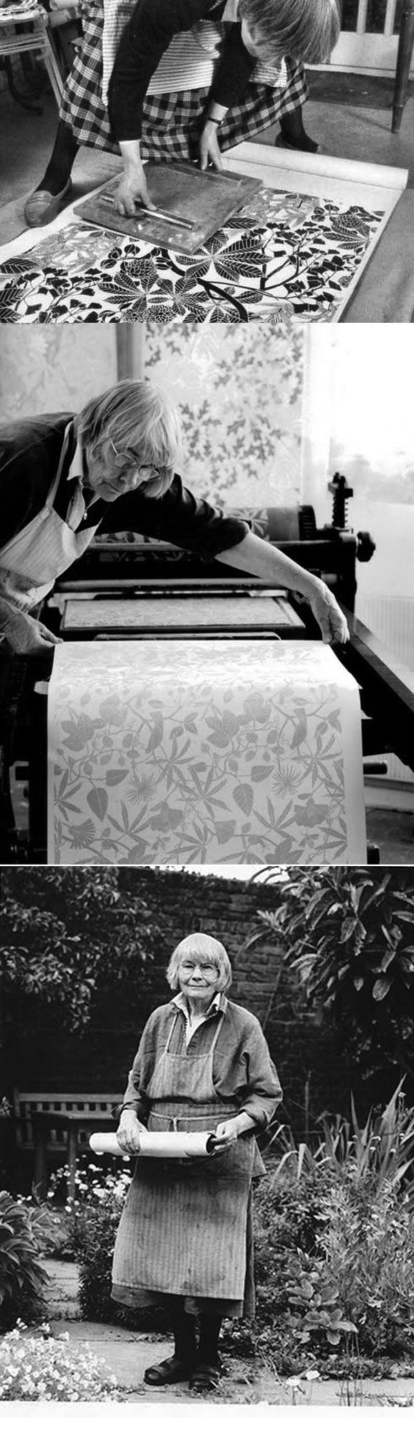 Marthe Armitage, printing own paper, slowing down