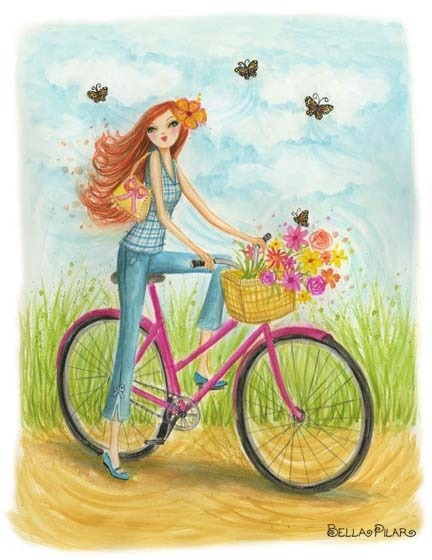 """Bicycle Ride""  ~~  Artist ~Bella Pilar"