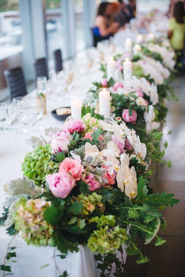 Pink Peony and Phalaenopsis Bridal Table