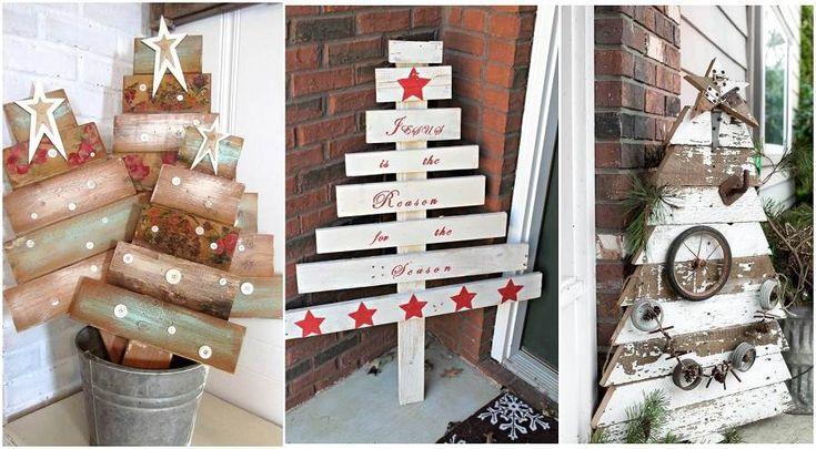 #décoration de Noël extérieur à faire soi-même sapin de ...