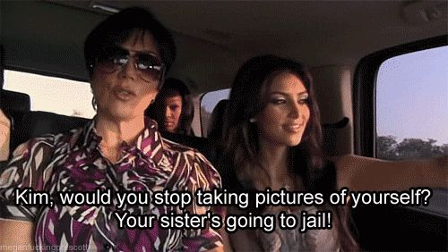 Before you selfie, ask yourself what would Kim do? | 22 Places You Shouldn't Selfie