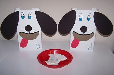 feed the dogs- upper and lower case letter sort