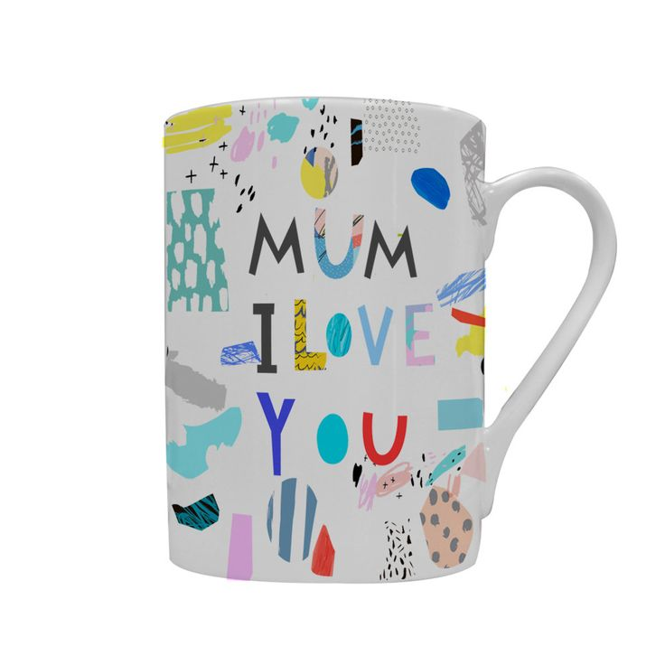 Personalised Porcelain Mug - customised with your child's drawing - gift for mum, gift for aunt, gift for granny from your little one by ScribbleGifts on Etsy