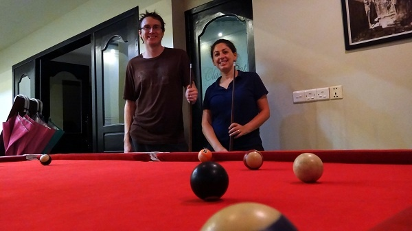Claremont Angkor Boutique Hotel - Pool Sharks Tanya and Andrew