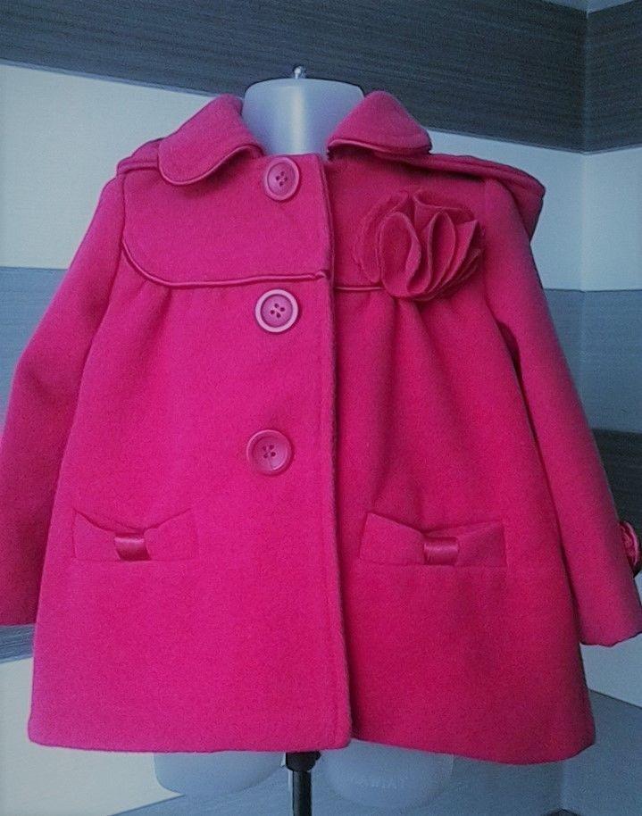 ff200d58cb4b Baby Girls Chloe Louise Pink Coat Removable Hood 12-18 months  Coat ...