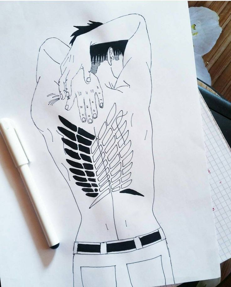 Paper drawing, fine liner. | Anime/manga: Shingeki no Kyojin (Attack on Titan) [Levi Ackerman]