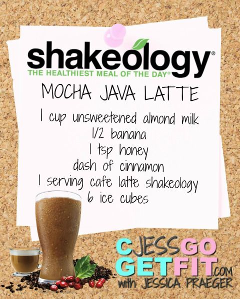 SHAKEOLOGY RECIPE mocha java latte