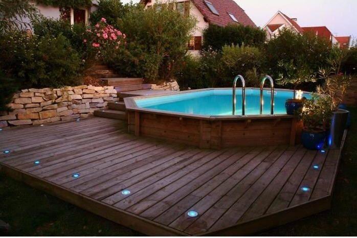 piscine bois ubbink maldives bleue 335x485x120cm