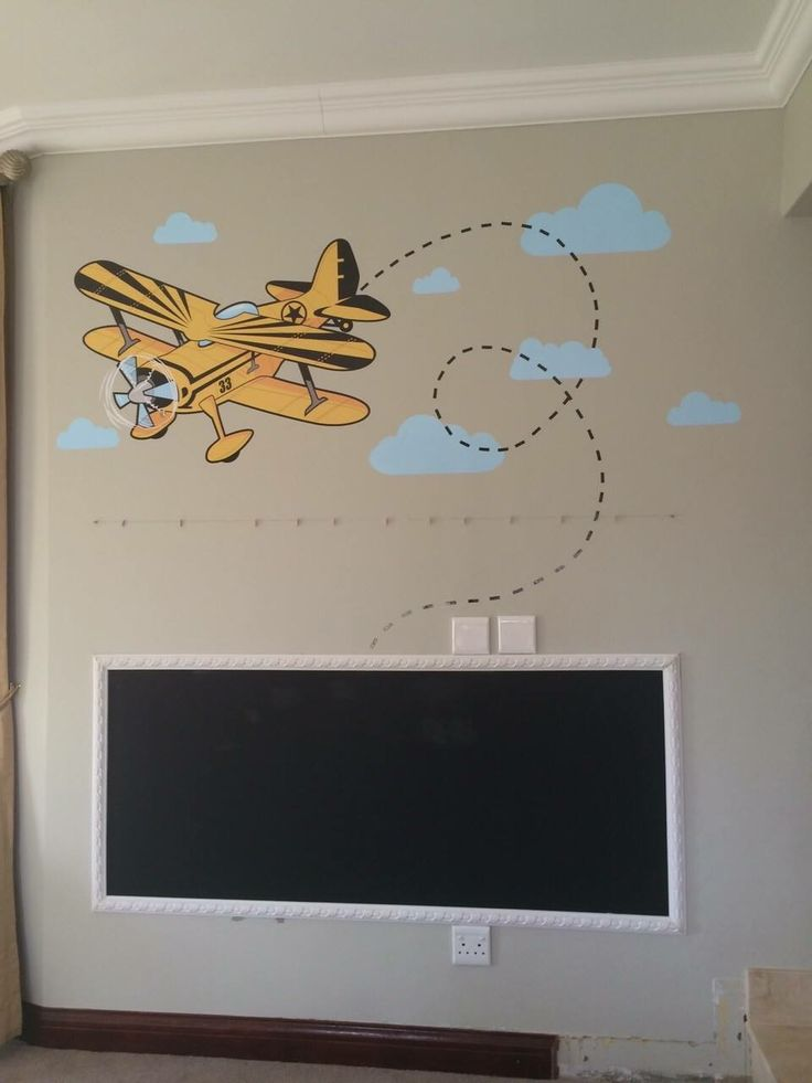 Plane wall decal