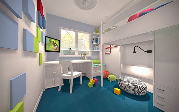 pokój dziecka biurko pod oknem - Google Search