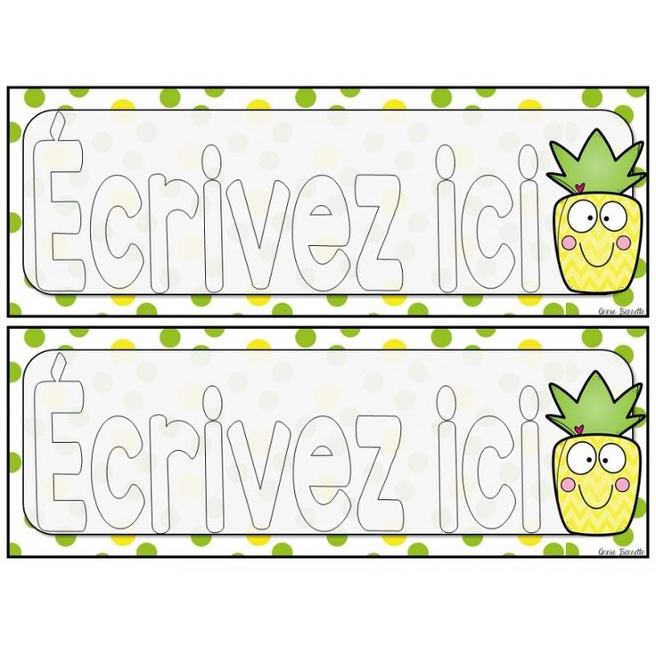 Voici un ensemble d'étiquettes pour les bureaux d'élèves sur le thème des ananas. Il y a aussi un format pour les casiers. Le tout est en format Power Point alors vous pouvez ajouter le nom de vos élèves sans problème! Version couleur o