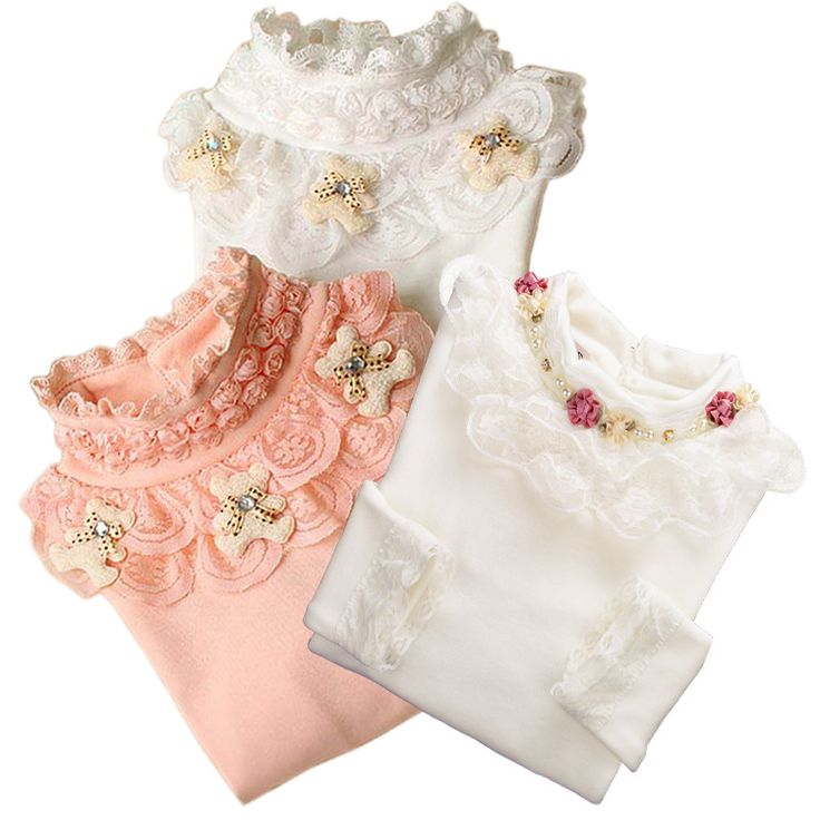 2016 Lace Shirt Fashion Girls Lace Blouses Children'S Shirts Top Long Sleeve Flower Autumn White/Pink/Black/ For 3~13 Age #>=#>=#>=#>=#> Click on the pin to check out discount price, color, size, shipping, etc. Save and like it!