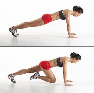 Mountain Climbers! Another excellent exercise to kick those love handles off your body!