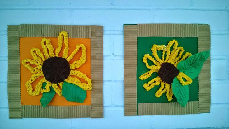 Auringonkukkia virkkaamalla