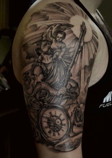 Amazing Saint Christopher ink