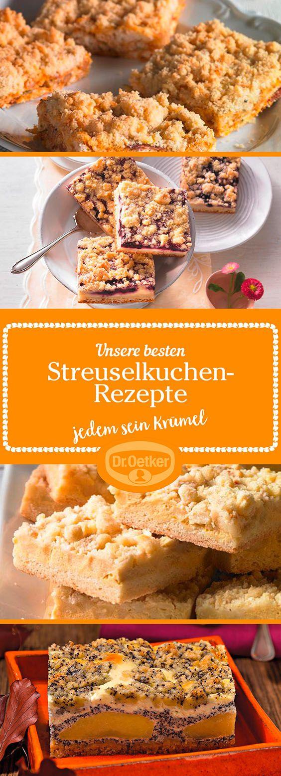 Lassen Sie sich von der großen Auswahl an Streuselkuchen-Rezepten, die von der Dr. Oetker Versuchsküche entwickelt wurden, inspirieren.