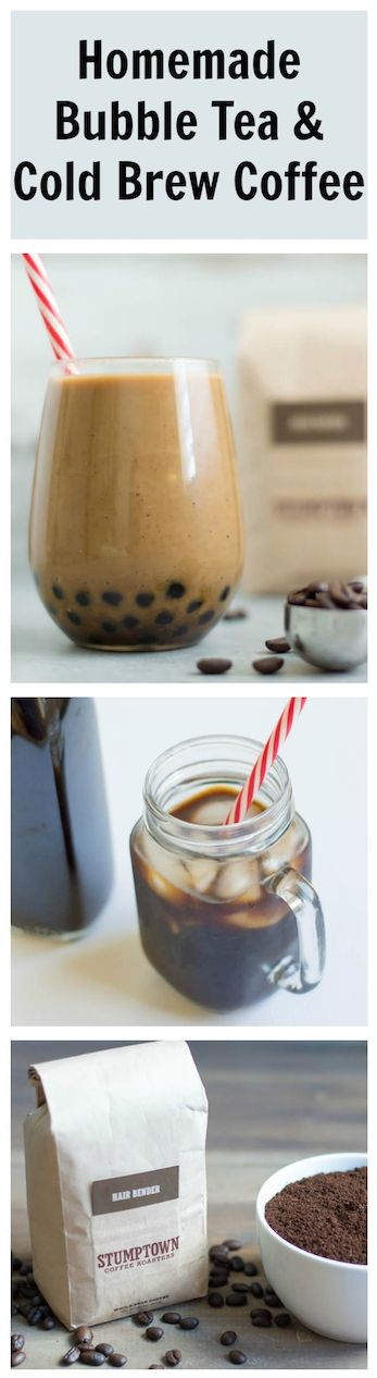 A homemade boba and cold brew recipe, without the junky simple syrup at cafes. The boba is soaked in a coconut sugar syrup! Easy to make and delicious going down.