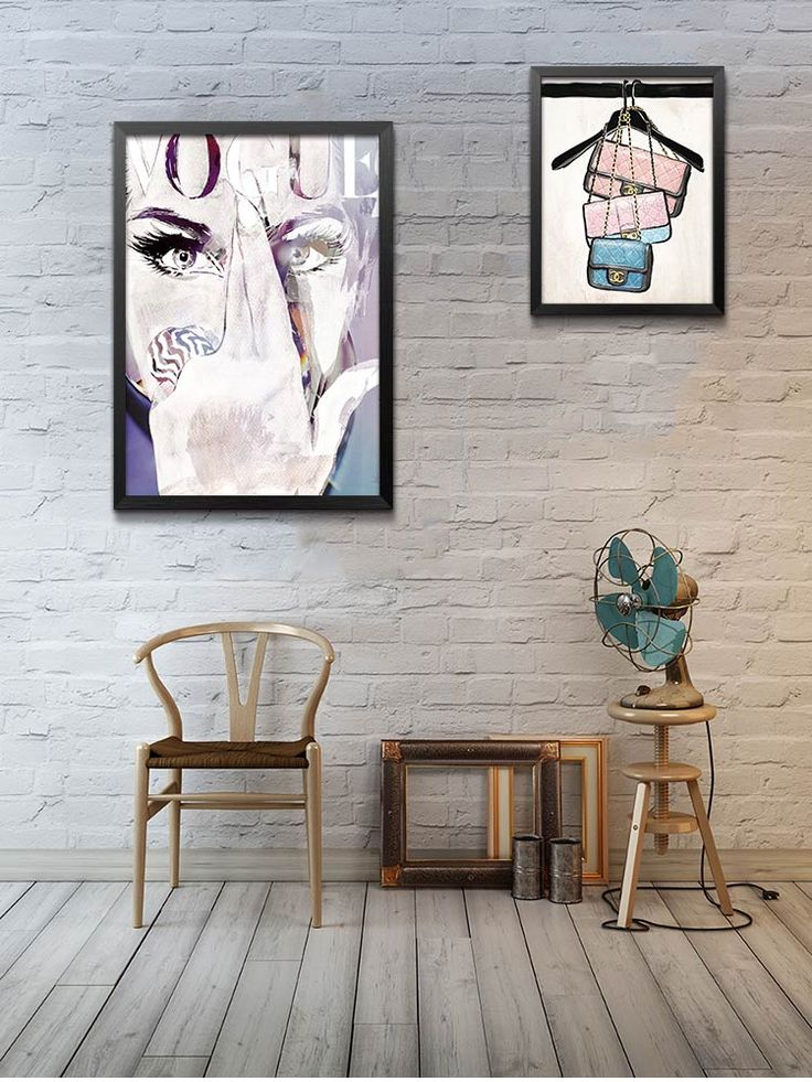 Современная Мода красота Печать на Холсте Живопись Плакат, настенные Панно для магазин Одежды Бар настенная живопись Home Decor DP0269 купить на AliExpress