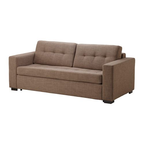 IKEA - КЛАГСТОРП / ЛЭННЭС, Диван-кровать 3-местный, Бальг светло-коричневый,
