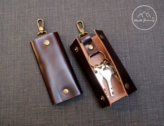 Leather key case.,Key Holder ,Leather Key Pouch ,Key Case
