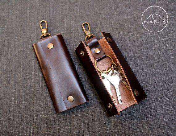 Leather key case.,Key Holder ,Leather Key Pouch ,Key Case