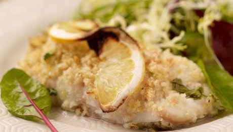 Baked Cod with Lemon & Herb Crust