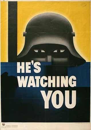 Posters da II Guerra MUNDIAL -   He-s Watching YOU    GlennFrnest Grohe de 1942