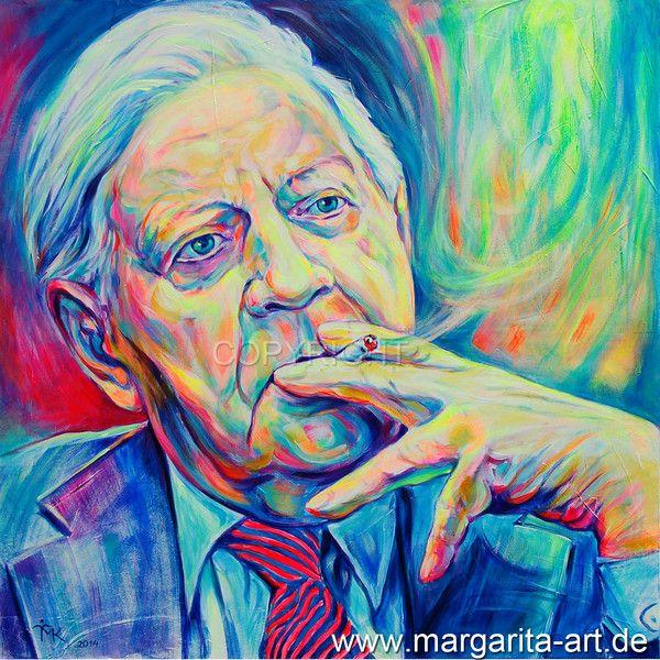 Original Gemälde Udo Lindenberg Portrait 80 x 80cm von Art & Design aus Hamburg auf DaWanda.com #SPD #HelmutSchmidt #hamburg #Hamburger #Politik #Politiker #Sozialisten #Raucher #Zigarette