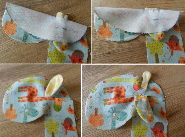 step sew ears ub giraffe soft toy free tutorial pattern riley blake giraffe crossing