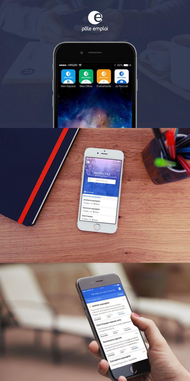Application Pôle emploi Je Recrute #mobile #UX #UI #interface #design
