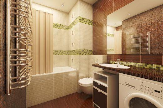 Квартира в стиле модерн. Ванная
