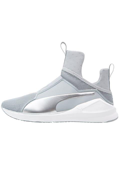 Puma FIERCE CORE - Scarpe da fitness - quarry/white/silver - Zalando.it