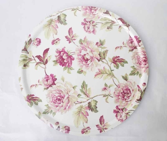 Bricka English Roses white i gruppen MÖBLER & BRICKOR / Brickor hos HouseofHedda.com (Hj31EnglRoseWhiter)