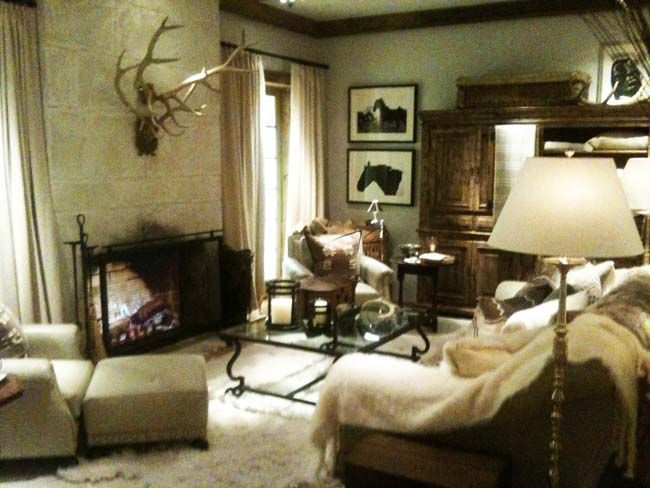 Ralph Lauren Home Collection Bedroom  The living room of the Alpine Lodge Photo by Style Intel