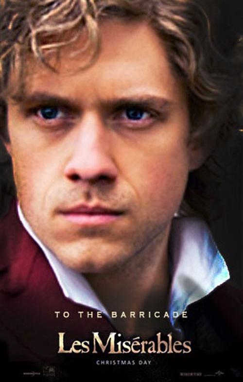 Aaron Tveit as Enjolras in Les Miserables movie #lesmis #Enjolras