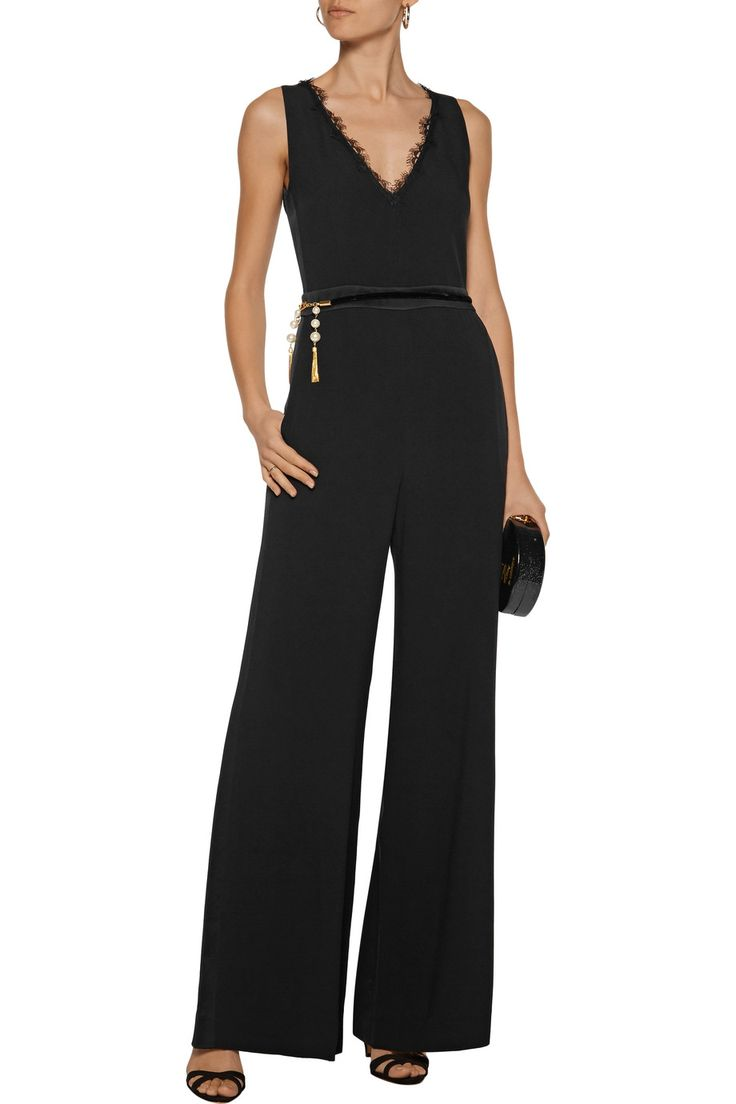 Shop on-sale Rachel Zoe Abby lace-trimmed embellished crepe jumpsuit. Browse other discount designer Jumpsuits & more on The Most Fashionable Fashion Outlet, THE OUTNET.COM