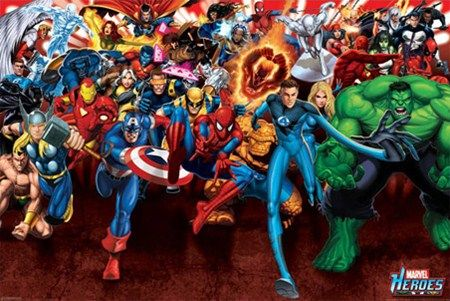Marvel Heroes on the Attack!
