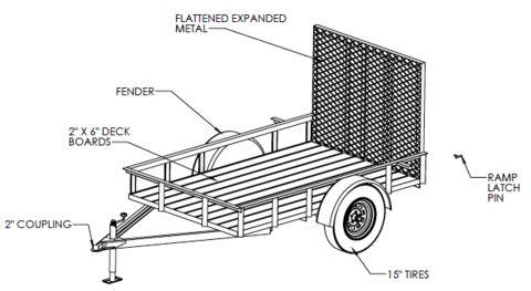 5'X8′ UTILITY TRAILER Welding Plans