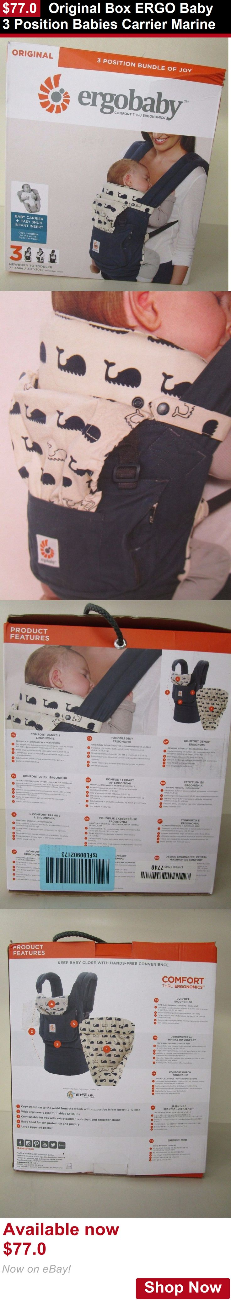 Baby Carriers and Slings and Backpacks: Original Box Ergo Baby 3 Position Babies Carrier Marine BUY IT NOW ONLY: $77.0