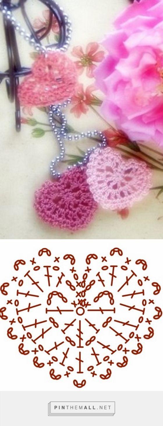 Сердечки крючком - created via | Crochet