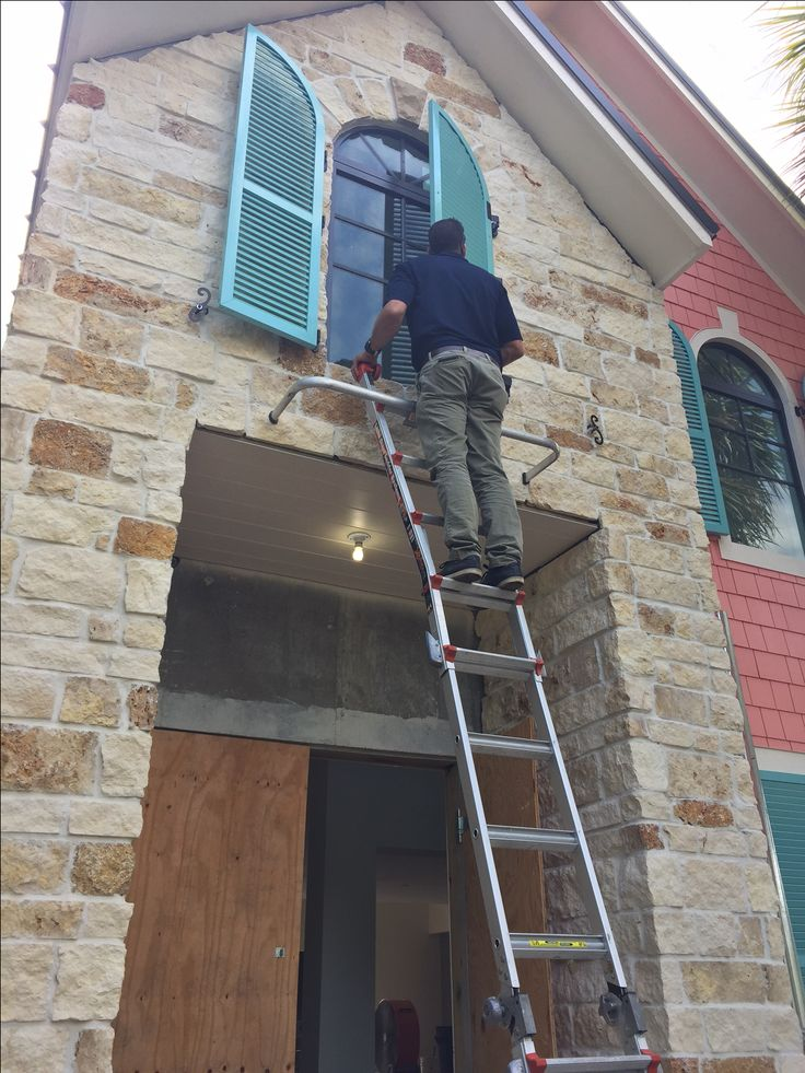 Putting the final touches on a gorgeous operable exterior shutter install! We are loving this color!